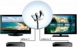 Как подключить два телевизора к одной спутниковой антенне
